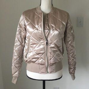 Topshop Silk Bomber Jacket / Size 6